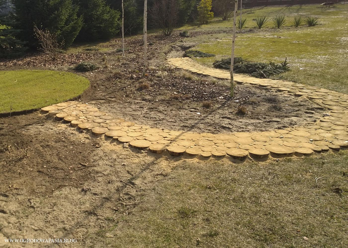 chodnik drewniany